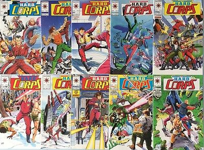 The H.A.R.D HARD CORPS #1-10 (Valiant, 1992) Collection Of 10 Comic Books NM