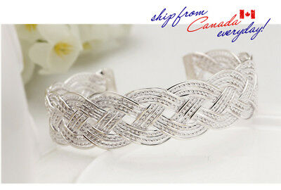 S925 Beautiful Wide Adustable Bangle Bracelet/Free Track-able Shipping