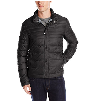 KENNETH COLE QUILTED Nylon Puffer Hipster Jacket Packable w  bag ... f93454829