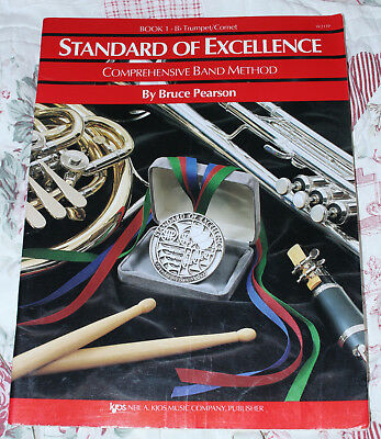 Standard of Excellence Book 1 B flat Trumpet / Cornet Bruce Pearson USED