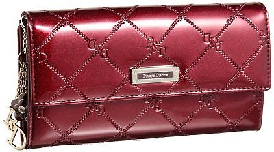 Pinky & Dianne wallet check enamel Kabuse long wallet (Bordeaux) From Japan F/S
