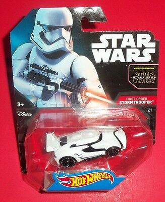 Hot Wheels Star Wars - Cars Vehicles - New - First Order Stormtrooper