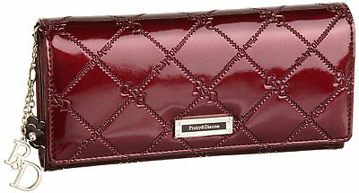 Pinky & Dianne long wallet check enamel Cabse thin wallet (Bordeaux) From Japan