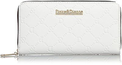 Pinky & Dianne Safiano Embossed Round Purse (White) From Japan F/S
