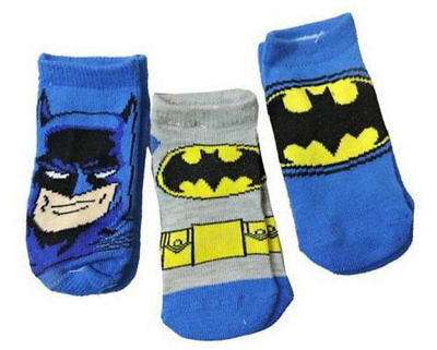 Batman Kids 3 Pack Socks Blue Size 2T-4T, NEW