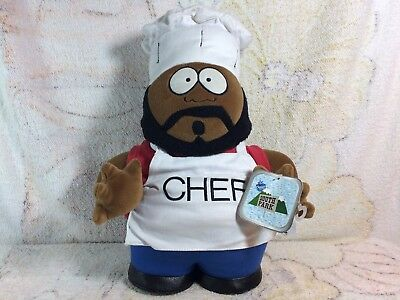 """1998 Comedy Central South Park Chef 14"""" Plush Doll Stuffed Animal"""