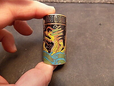 Rare Antique Chinese  Enamel Cloisonne Canister Snuff Box Ginger Jar