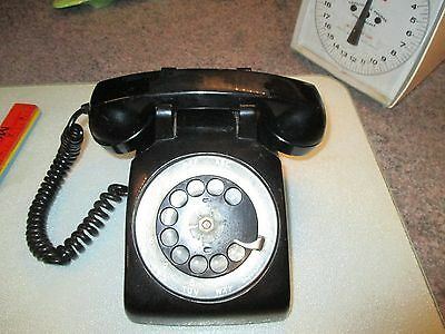 Vintage Northern Electric C/D 500 Black Rotary Desk Telephone Made In Canada