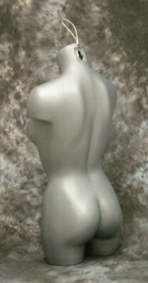 Female 3/4 Torso Dress Form Mannequin Display Bust Grey with Hanging Loop Xen...