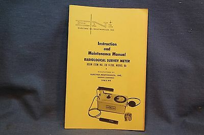 Electro-Neutronics Radiological Survey Meter Instruction & Maintenance Manual