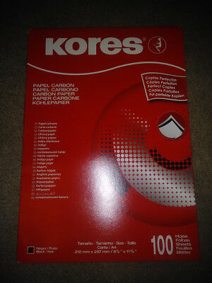 KORES Black Carbon Paper 100 SHEET PKG