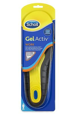 Scholl Gel Active Work Insoles for Men - Impact Cushioning - Brand New