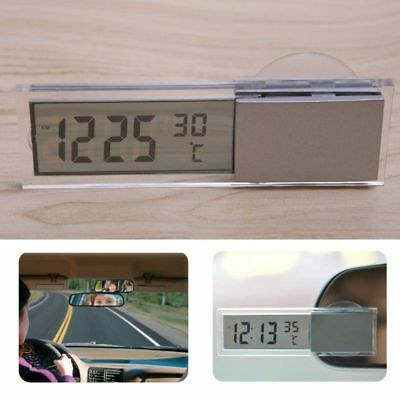led digital auto car interior dashboard mount mini display clock thermometer abs cad. Black Bedroom Furniture Sets. Home Design Ideas
