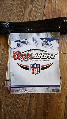 22 Foot Coors Light Silver Bullet String Banner Used W/ NFL Football Teams