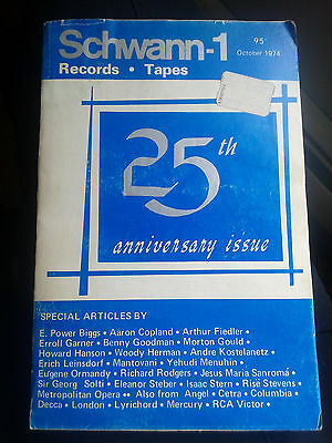 SCHWANN-1 Record & Tape Guide - 1974 25TH Anniversary Issue