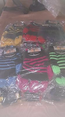 joblot 60 pairs boys/girls striped gloves varies coulors