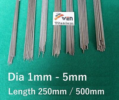 Titanium 6al-4v Wire ( Dia 1mm - 5mm ) Grade 5 Round Bar Ti Straight Welding Rod