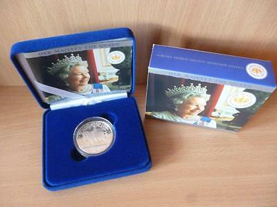 2002 Silver Proof Crown £5 Coin The Queens Golden Jubilee  Cased With Coa.