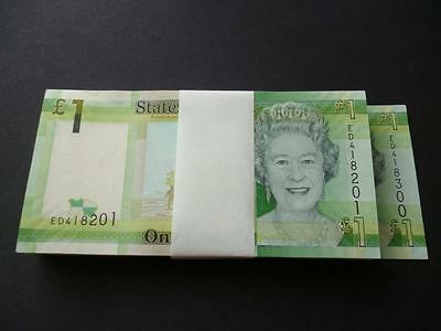 Jersey £1 Notes Bulk Pack Of 100 Mint Uncirculated  One Pound Notes Consecutive.