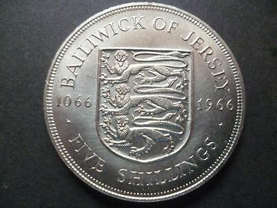 Jersey 1966 Five Shillings coin Crown good condition, The Norman Conquest 1066