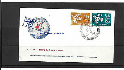Netherlands 1961 Europa Set Illustrated Un-Addressed First Day Cover
