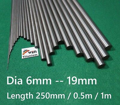 Titanium 6al-4v ( Dia 6mm - 19mm ) Round Bar Grade 5 Alloy Rod Ti Gr.5 Metal