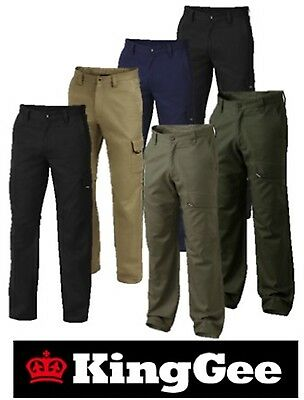 "King Gee - Mens ""workcool 2"" Cotton ""ripstop"" Cargo Pocket Work Pants - K13820"