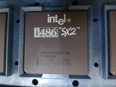 Vintage Intel i486 A80486SX2-50 50MHz 486 CPU New in Original OEM Tray Packaging