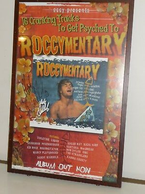 Signed and Framed Mark Occy Occhilupo Poster - Surfing Memorabilia