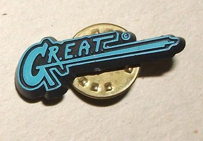 G.R.E.A.T. Pin Anstecker Polizei police Gang Resistance Education and Training