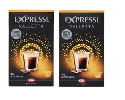 32 Capsules (2 boxes) Aldi Expressi Coffee Pods Valletta - Intensity 6