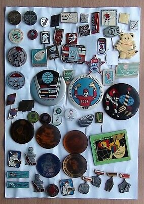 Very big collection ice-hockey pins badge