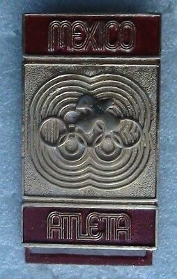 Olympic games 1968, Mexico city, original pin member of the athletic competition