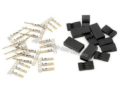 RC Model Plane/Car/Drone Servo Connector Plugs Male & Female 5pkt (Futaba/JR)