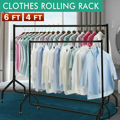 Clothes Rail Garment Dress Hanging Home Shop Display Metal Stand Rack 4 6 Ft