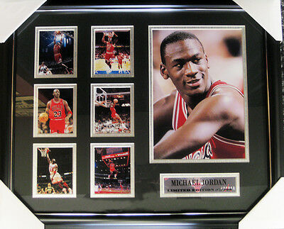 Michael Jordan Chicago Bulls Limited Edition Picture Frame Ready to Hang-NEW '