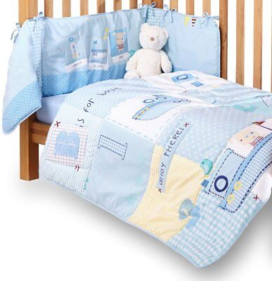 Clair De Lune Cot / Cot Bed / Bedding Set Quilt & Bumper 2 Piece Set for Babies