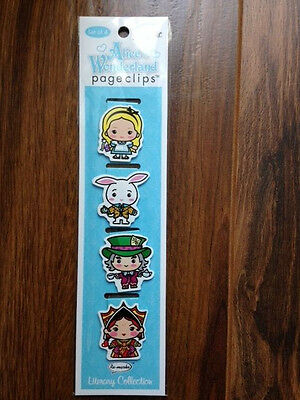 Re-marks Magnetic Page Clip, Alice In Wonderland - 4 count - 68141019087