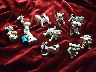 Disney 11 x Dalmation Dog Dogs Collectables 1996 Things in Mouths or Just Hungry