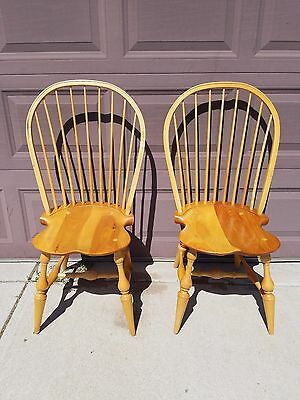 """Pair of Vintage Bow Back Windsor Chairs Alex Pifer """"The Seraph"""" FREE SHIPPING"""