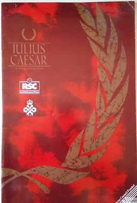 "VINTAGE THEATRE PROGRAMME / RSC 1987 / ""JULIUS CAESAR"" by WILLIAM SHAKESPEARE"