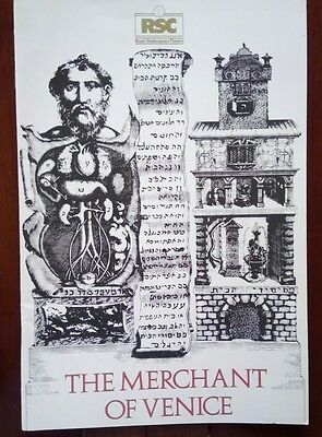 "Vintage Theatre Programme / Rsc 1984/""the Merchant Of Venice"" / Shakespeare"