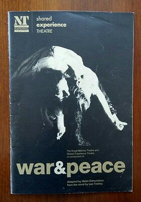 """war And Peace""/cottesloe/royal National Theatre/1996 Programme"