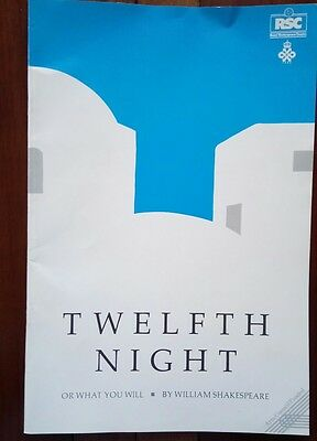"THEATRE PROGRAMME / RSC 1987/""TWELFTH NIGHT"" by WILLIAM SHAKESPEARE"