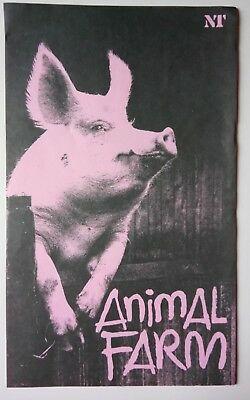 """animal Farm"" 1985 Programme/national Theatre At Theatre Royal Glasgow"