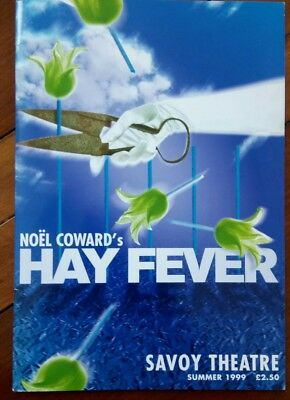 """HAY FEVER"" by NOEL COWARD; SAVOY THEATRE PROGRAMME, LONDON 1999"