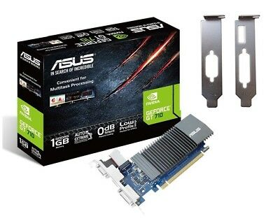 Low Profile Asus Nvidia GeForce GT 710 Silent 1GB GDDR5 PC Gaming Graphics Card