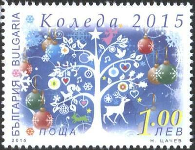Mint stamp Christmas 2015 from Bulgaria