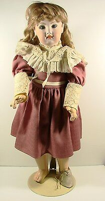 Large Vintage Compositon Doll With Depose Tete Jumeau Bfe S.g.d.g. Beautiful Wi