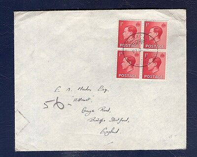 Curacao 1937  GB Edward VIII franking cover to England